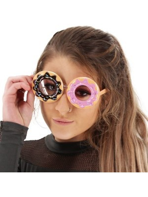 Doughnut Rings Fun Party Glasses