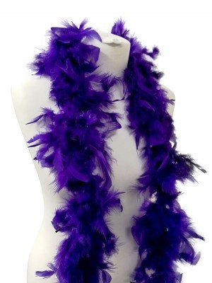 Beautiful Purple Feather Boa – 50g -180cm