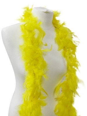 Beautiful Yellow Feather Boa – 50g -180cm