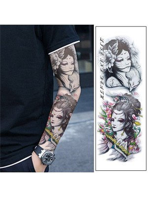 Life and Death Oriental Style Sleeve Temporary Tattoo Body Art Transfer No. 54