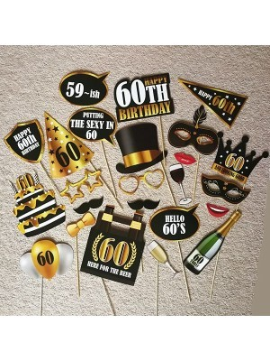 60th Birthday High Quality Props On Sticks
