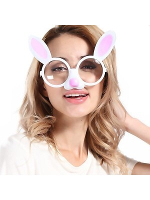 Bunny Ears And Pink Nose Sunglasses