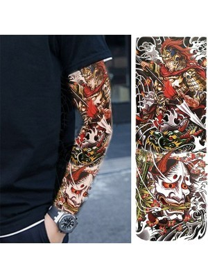 Samurai Warrior Sleeve Temporary Tattoo Body Art Transfer No. 69