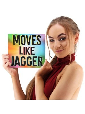 'Moves Like Jagger' Square Word Board Photo Booth Prop