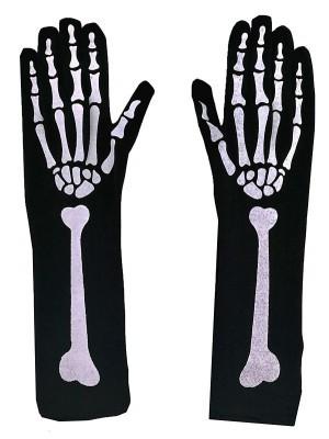 Adult Skeleton Halloween Gloves