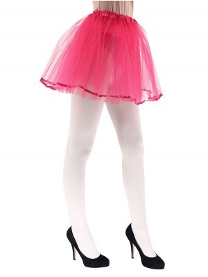 Adult Tutu Skirts with Ribbon Trim - Hot Pink