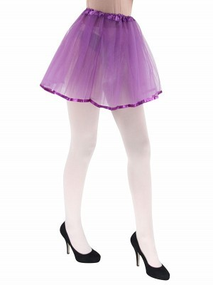 Adult Tutu Skirts with Ribbon Trim - Purple