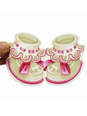 27PCS Baby Shower Photo Booth Props Little Girl New Born Party Decoration in Pink