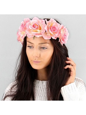 Beautiful Baby Pink Garland Flower Headband