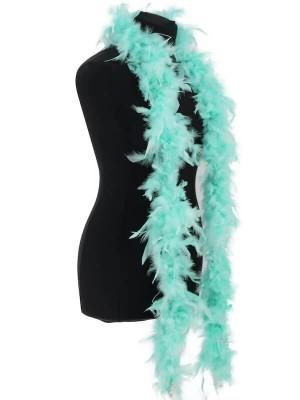 Beautiful Mint Green Feather Boa – 50g -180cm