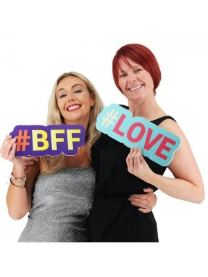 #BFF Trending Hashtag Oversized Photo Booth PVC Word Board Sign