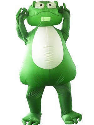 Big Green Frog Inflatable Fancy Dress Costume