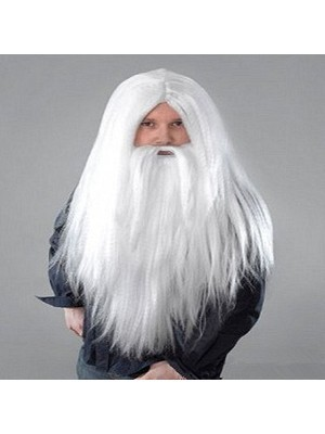 Big White Santa Hair and Beard Wig