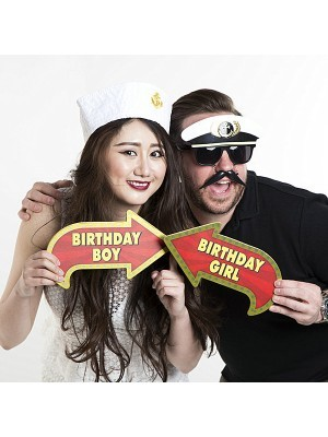 'Birthday Boy' Vegas Showtime Style Photo Booth Prop