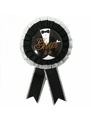 'Groom To Be' Rosette Badge