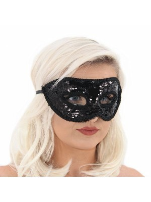 Sequin Masquerade Mask in Black
