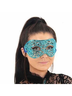 Shiny Butterfly Masquerade Mask in Blue