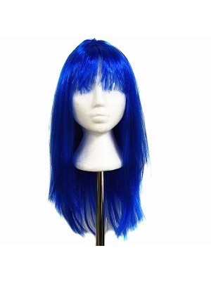 Glitzy Straight Wig Blue