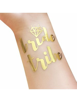 Hen Party Gold & Silver Foil Variety Tattoo Pack
