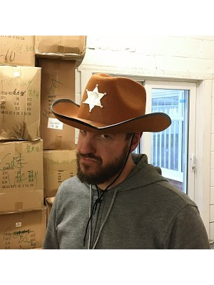 Cowboy Sheriff Hat Brown