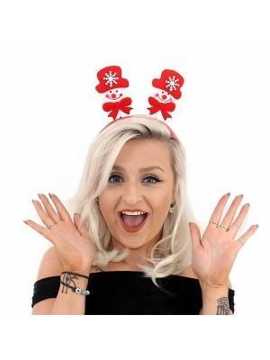 Budget Red Snowman Christmas Headband
