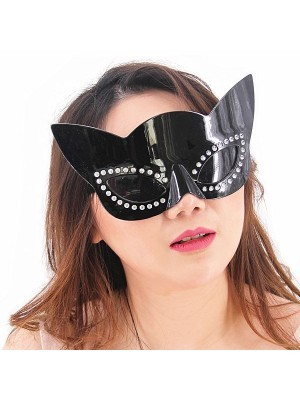 Cat Woman Style Headpiece And Sunglasses