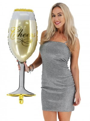 Giant Fizzy Champagne 'Cheers' Glass Balloon