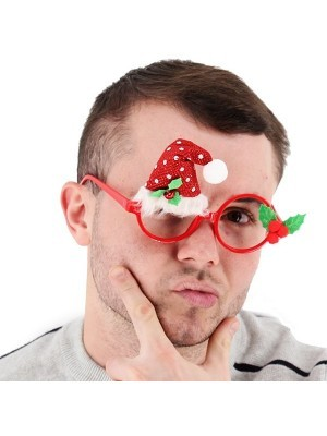 Santa Claus Hat Christmas Glasses