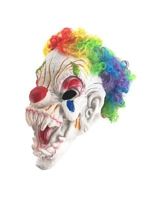 Colourful Clown Head Mask Halloween Fancy Dress Costume