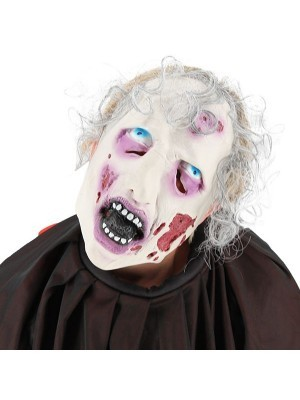 Rotting Ghostly Zombie Face Mask Halloween Fancy Dress Costume