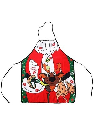 Covered In Kisses Santa Claus Christmas Apron