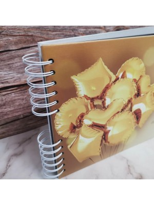 CUSTOM Shiny Gold Balloons Guestbook with Different Page Style Options