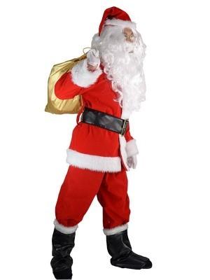 Deluxe Santa Claus Fancy Dress Costume
