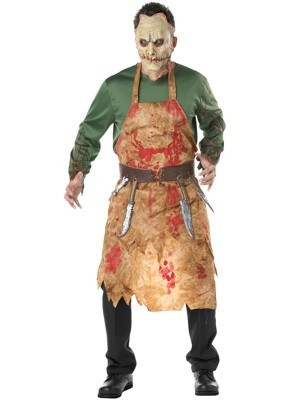 Demented Butcher Male Fancy Dress Costume