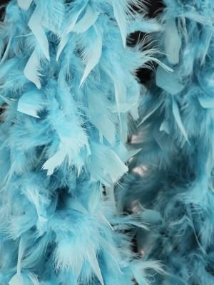 Luxury Dusty Blue Feather Boa – 80g -180cm