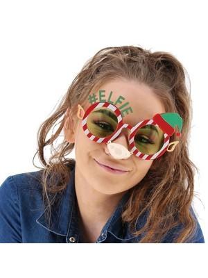 #Elfie Elf Eyes, Ears & Nose Attachment Christmas Glasses