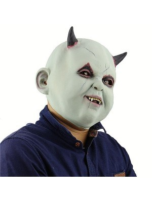 Evil Baby Devil Mask Halloween Fancy Dress Costume