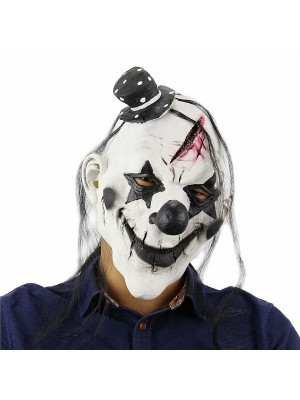 Evil Killer Clown Mask Halloween Fancy Dress Costume