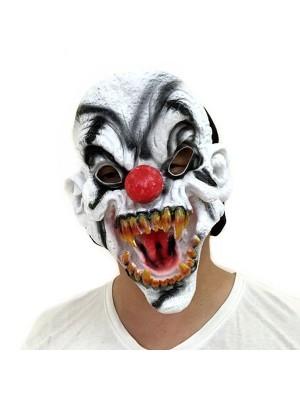 Dark Clown Head Mask Halloween Fancy Dress Costume