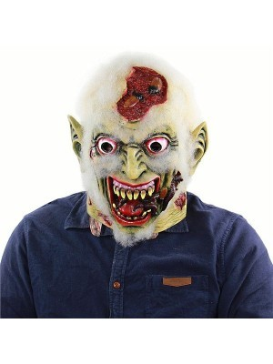Green Old Eroding Corpse Zombie Mask Halloween Fancy Dress Costume