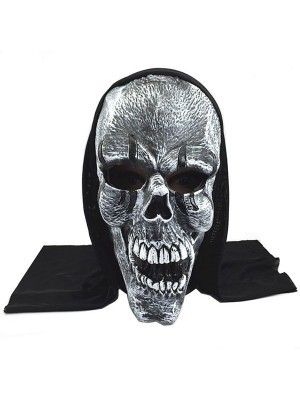 Fancy Dress, Costume Hooded Dark Skull Mask