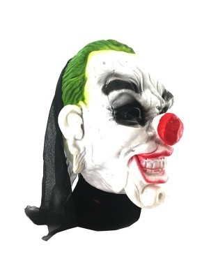 Horror Circus Clown Mask Halloween Fancy Dress Costume