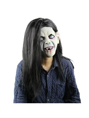 Fancy Dress, Costume Long Haired Vampire Zombie Mask