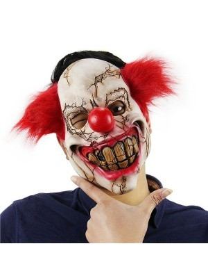 Fancy Dress, Costume Scar Covered Clown Mask