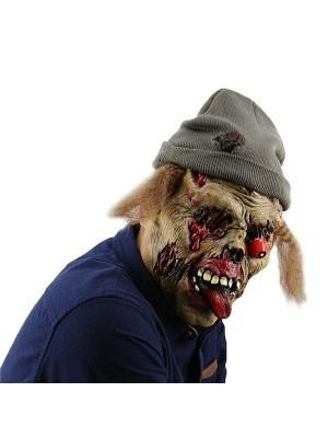 Evil Scarecrow Zombie Mask Halloween Fancy Dress Costume