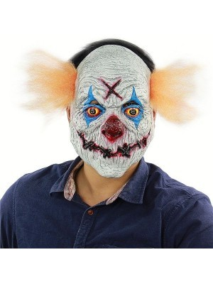 Fancy Dress, Costume Stitched Mouth Clown Head Mask
