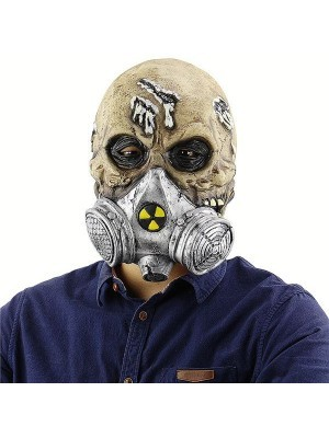 Fancy Dress, Costume Zombie Mask with Gas Mask