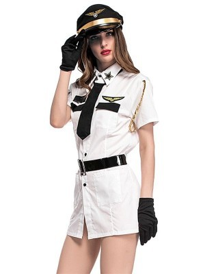 Female Flight Captain Fancy Dress Costume