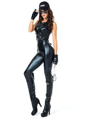 Female SWAT Team Police Fancy Dress Costume