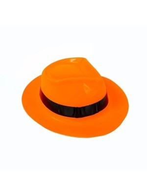 Shiny Orange Gangster Hat